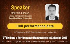 """#BigData - We are Delighted to announce and welcome our #Speaker """"Mauricio Lacayo"""" joins the panel at RecunnectLtd's 2nd Big Data and Performance Management in Shipping 2016. Standard Registration now live £950+VAT (3 for the price of 2 - Book 2 delegates and get the third pass complementary) Book at http://www.recunnect.com/events/maritime-events/2nd-big-data-in-shipping-2016/registration/ now to save £50 with voucher code SAR001."""