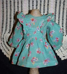 Two Piece Pinafore Outfit for Composition Dolls 1930's