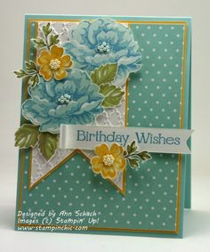 Stippled Blossoms for The Paper PlayersThe Stampin' Schach | The Stampin' Schach