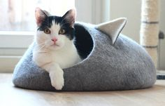 A Different Kind of Felted Cat Cave From Agnes Felt
