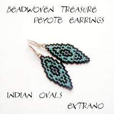 Peyote Earrings  INDIAN OVALS  Pattern WITH detailed by Extrano