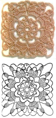 Transcendent Crochet a Solid Granny Square Ideas. Inconceivable Crochet a Solid Granny Square Ideas. Crochet Motif Patterns, Granny Square Crochet Pattern, Crochet Blocks, Crochet Diagram, Crochet Chart, Crochet Squares, Thread Crochet, Crochet Granny, Love Crochet