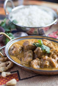 Slow Cooker Lamb Korma Curry recipe that is dairy free, gluten free & will easily feed a large, hungry family. Freeze leftovers for another easy meal. Fried Fish Recipes, Lamb Recipes, Indian Food Recipes, Vegetarian Recipes, Ethnic Recipes, Roast Recipes, Best Slow Cooker, Slow Cooker Recipes, Lamb Korma Recipe Slow Cooker