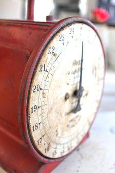 Farmhouse Vintage Scale Red Farmhouse Decor Home by NavarreCharm--i want green though