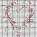 Toujours pour préparer la Saint-Valentin, je vous propose aujourd'hui une nouvelle grille de coeur : Pour la télécharger au format...