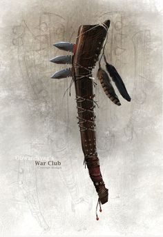 Assassins Creed Pontiac's War Club. Native American Images, Native American Regalia, Club Weapon, Assassins Creed 3, Fantasy Weapons, Indigenous Art, Mountain Man, Knives And Swords, Primitive Technology