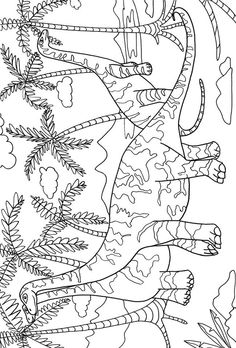 Dino Island Adventure Coloring Book Dover Publications