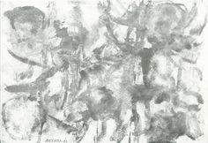 """Ermanno Besozzi  pittore 1962 Rovi china acquerello e tempera su carta intelata firma basso sinistra cm. 32x22 arc 220 Bibliografia: M. Bonfantini, F. Gualdoni, monografia """"Il Fiume di Besozzi""""""""Verso il'60"""" 1994 pp.18 rip. Museo: Comune di Bellano"""