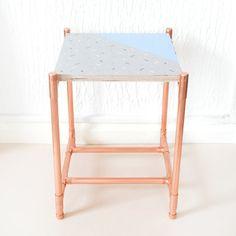 Kupfer und hölzernen Ende Tisch / Beistelltisch von LittleDeerEtsy