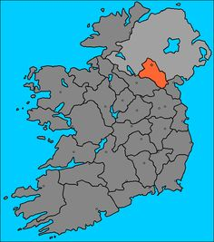County Monaghan | Map of the County Monaghan (Ireland)