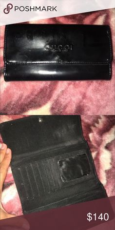 Gucci black leather wallet Wear and tear but no longer use it. Yes it is real. Gucci Bags Wallets