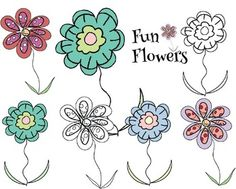Here is a set of 6 Fun Flower Clips in the colors that are posted on the cover.Enjoy! This is what it reads on the credit sheet in the download:Created by Karen L.S.You may use for personal AND commercial purposes. Graphic should be incorporated into an original design or resource before beingshared with others.