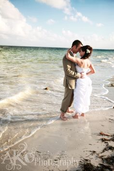 Beach wedding in Mexico Photography taken by AKOPhotography.com