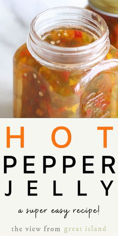 Super Easy Hot Pepper Jelly is an easy small batch refrigerator recipe with both sweet and hot peppers. It's going to be your new favorite appetizer! Jalapeno Jelly Recipes, Pepper Jelly Recipes, Hot Pepper Jelly, Cucumber Recipes, Serrano Pepper Jelly Recipe, Sweet Pickle Recipes, Cucumber Jelly Recipe, Pineapple Pepper Jelly Recipe, Hot Pepper Oil Recipe