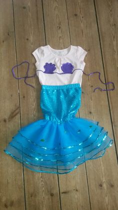 Easy DIY mermaid costume for kids