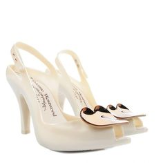 1a4f6d5741e vivienne westwood for melissa Womens Lady Dragon Pearl White Heart Shoes  (165 NZD) found