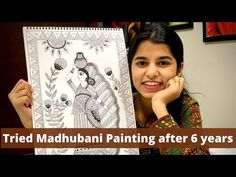 Madhubani Art, Madhubani Painting, Youtube Sensation, 6 Years, Social Media, Make It Yourself, Crafts, Manualidades, Social Networks