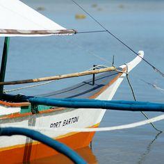 Bangka à Port Barton