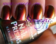 Sally Hansen Nail Prisms #08 Amber Ruby  - Looks like a caramel apple to me!