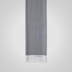 Grey Daisy Print Silk Scarf - Scarves - Accessories - Crombie
