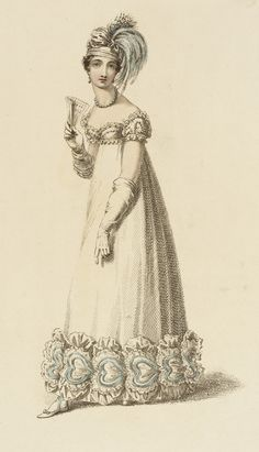 Fashion Plate (Evening Dress) Rudolph Ackermann (England, London, 1764-1834), England, London, February 1, 1818
