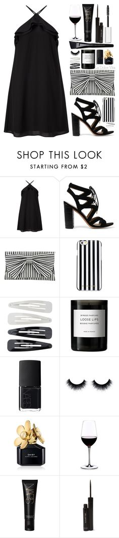 """""""Wine party"""" by samantha-1221 ❤ liked on Polyvore featuring Miss Selfridge, Sam Edelman, Inge Christopher, MICHAEL Michael Kors, Forever 21, Byredo, Dolce Vita, NARS Cosmetics, Marc Jacobs and Riedel"""