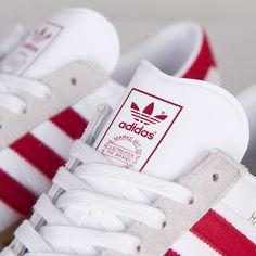 adidas Originals Hamburg 'White & Uni Red'
