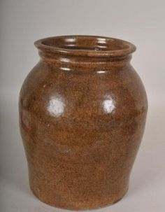 Lot: Stoneware storage jar, Edgefield, South Carolina, Lot Number: 0022, Starting Bid: $200, Auctioneer: Wooten & Wooten Auctioneers, Auction: Fine Southern Estates, Date: August 10th, 2013