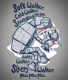 """Soft Walker"" by @rebelartdesign is at OnceUponaTee.net starting at $12! Available in men's (S-6XL) and women's (S-3XL), kids, onesies, hoodies, coaster sets, and more! Available till 1/18 and we ship Worldwide!"