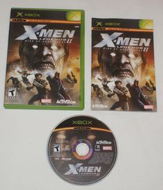X-MEN Legends II 2 Rise of Apocalypse for Original XBOX - Complete Black Label #Activision