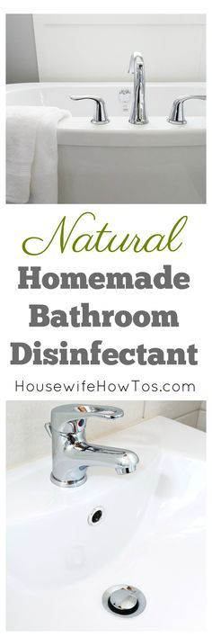 Homemade Bathroom Disinfectant | Natural spray and scrub to clean your bathroom without polluting your air #homemadecleaner #naturalcleaner #cleaningrecipe #cleaning