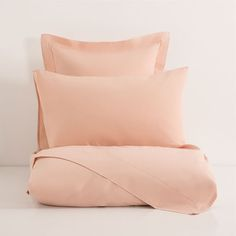 Pink Basic Percale Bed Linen