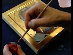 video showing icon painting process. The icon of St. Nikolay, painted by Anton Daineko (Belarus).