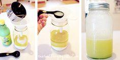 sugar oil and lemon scrub for smooth silky skin!