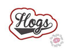Hogs Applique **EXCLUSIVE** Machine Embroidery Applique Design