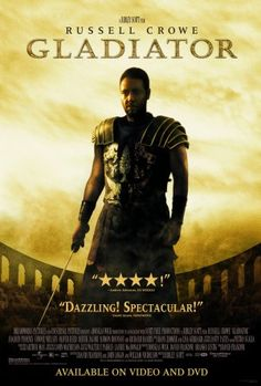 Gladiator movie video release poster