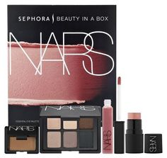 """Beauty in a Box: NARS Junkie This set contains all of Sephora's fave NARS products including a mini Multiple Orgasm (yes!), Cream shadow in Unconditional Love, Lip Gloss in Ophelia, an essential eye palette with 6 luxe colors, and a mini bronzer in Laguna. The kit also comes with an illustrated, step-by-step guides for creating three distinct looks: """"Bronzed Glow, Sparkling Eye,"""" """"Romantic and Radiant,"""" and """"A Sophisticated, Smoldering Eye."""" For $69 this set is a great value and shipping is free on Sephora.com. Hooray!"""