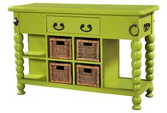 One Kings Lane - In the Dining Room - Bubble Kitchen Island, Lime Green
