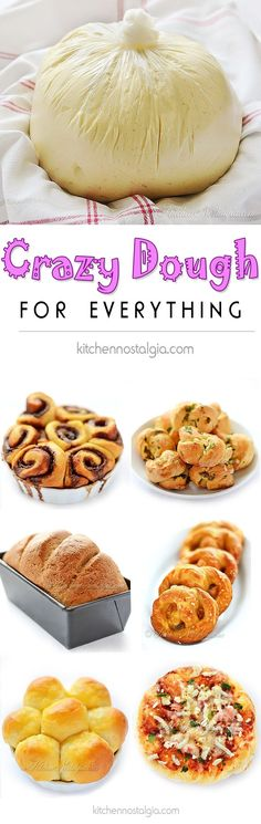Vegan Crazy Dough for Everything - make one miracle dough keep it in the fridge and use it for anything you like: pizza cinnamon rolls dinner rolls pretzels garlic knots focaccia bread. (Keto Recipes For Beginners) Vegan Foods, Vegan Dishes, Vegan Desserts, Vegan Recipes, Cooking Recipes, Free Recipes, Pizza Recipes, Vegan Vegetarian, Easy Recipes
