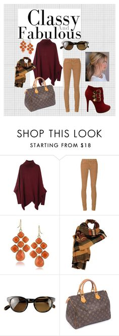 """""""Saturday Shopping"""" by dana-einck on Polyvore featuring AG Adriano Goldschmied, Wilsons Leather, Oliver Peoples, Louis Vuitton and MABEL"""