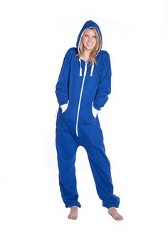 Women Tartan Print One Piece Onesie Hooded Hood Hoodie Playsuit Jumpsuit