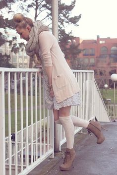 Romantic Winter Outfit Ideas...not sure about the boots but i love the idea of this outfit!