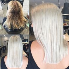 Going from foils to an all over soft blonde for this beautiful girls engagement…