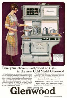 Vintage advertisements from the to I keep my vintage books hereI also hang out at Palace. Wood Stove Cooking, Kitchen Stove, Old Kitchen, Vintage Kitchen, Kitchen Art, Retro Advertising, Vintage Advertisements, Vintage Ads, Advertising History