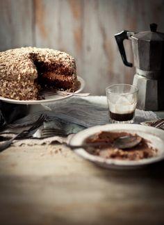 gluten-free mocha caramel hazelnut cake