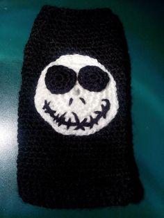 Funda de móvil inspirada en Pesadilla antes de Navidad. Jack Skellington.  #crochet #ganchillo #handmade  #case #Jack Nightmare before Christmas https://www.facebook.com/ovilladans/