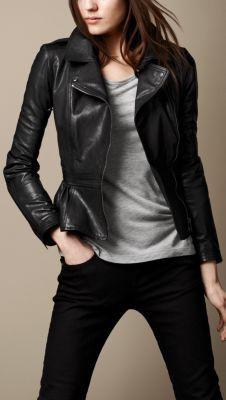 Perfect black leather jacket