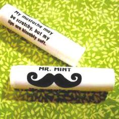 Mustache Lip Balm, 24 Count Kiss Me Honey Certified Organic Lip Balm Cruelty Free - Strawberry (Single)