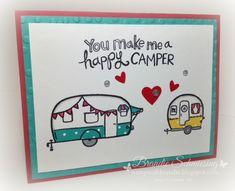 Stamp with Brandie: Happy Camper! Camper Crazy, CTMH stamps. www.stampwithbrandie.blogspot.com Stampin' Up!