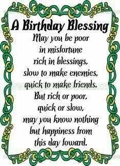 Irish birthday wish irish blessing birthday quotes wishes one birthday blessing m4hsunfo